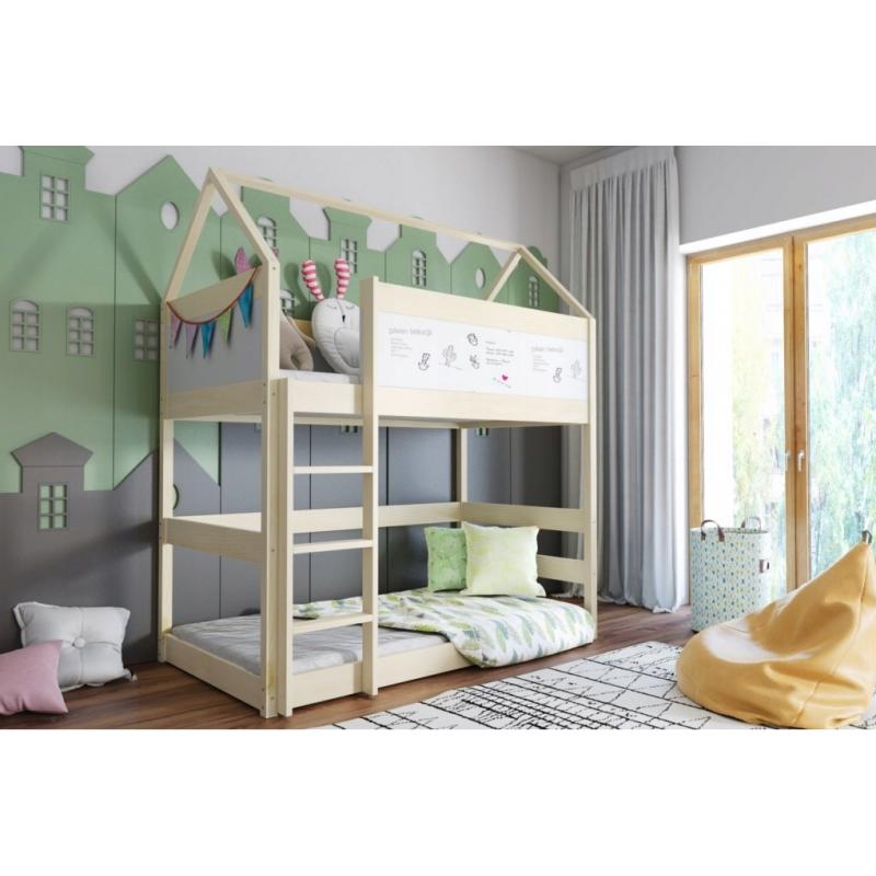 Łóżko piętrowe DOMEK 2 160x80-sosna