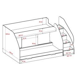 Łóżko piętrowe MARCINEK (id)
