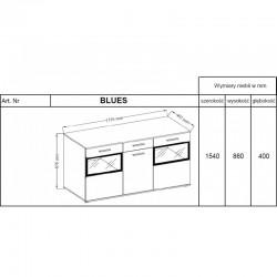 Komoda BLUES ST betonjasny/biały