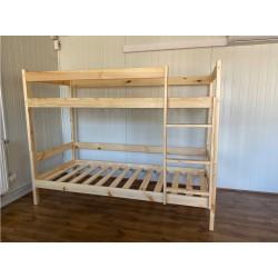 Łóżko piętrowe 90x200-sosna
