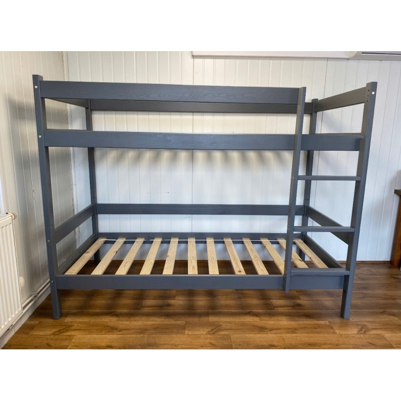 Łóżko piętrowe 90x200 HIT-grafit